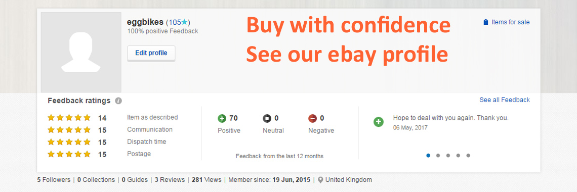 Buy with confidence: Ebay feedback
